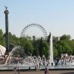 В парке имени Горького сносят незаконные рекламные конструкции