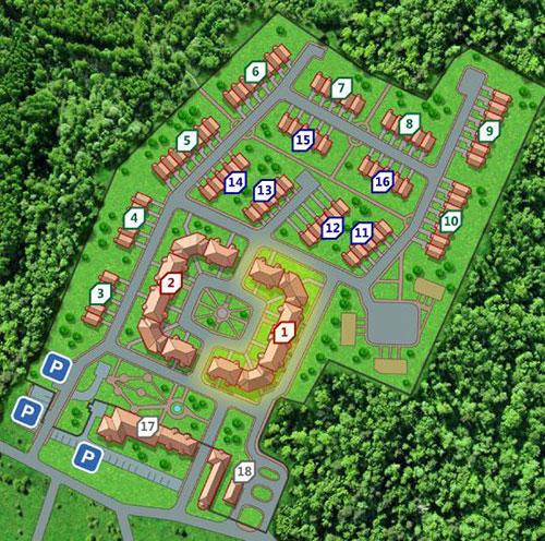 Клубный комплекс «Зелёная роща» (Таунхаусы) генплан №1