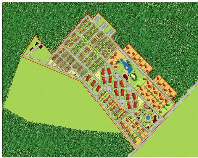 Коттеджный поселок «Шервудский лес» генплан №2