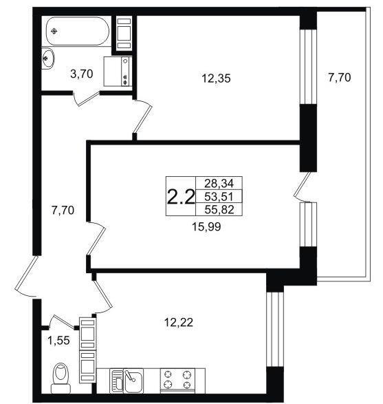 Планировки 1 очередь - дом 1