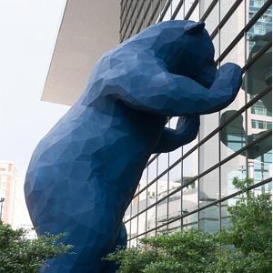 Встречаемся у синего медведя: дорогу в ЖК «Скандинавия» подскажут «хранители мест» и мозаичные тропинки