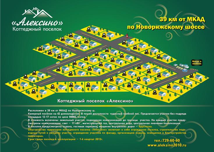 КП «Алексино» генплан №1